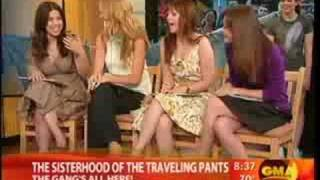 The Sisterhood of the Traveling Pants 2 cast on GMA