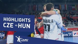 Highlights | Czech Republic vs Hungary | Men's EHF EURO 2018