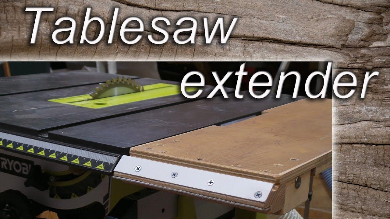 Hommemade Extender For Table Saw Youtube