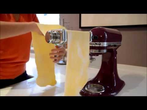 How to Roll Pasta Dough using the KitchenAid Attachment