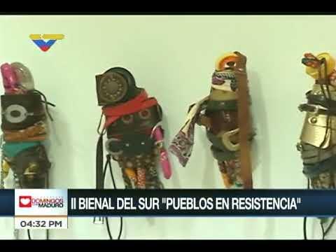 Morela Jurado en la inauguración de la II Bienal del Sur, Pueblos en Resistencia