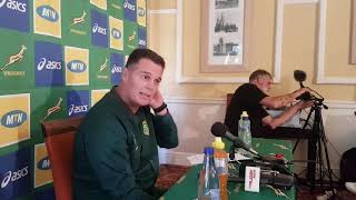 Rassie Erasmus announces the team for the 2nd test and explains his changes