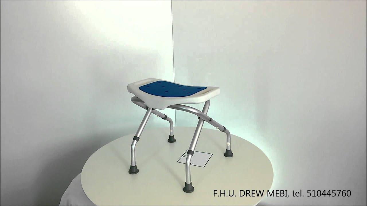 Taboret Plastikowy Pod Prysznic : Taboret pod prysznic skladany blue krzeselko prysznicowe