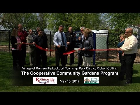 Village of Romeoville Ribbon Cutting 2017 - Cooperative Community Garden