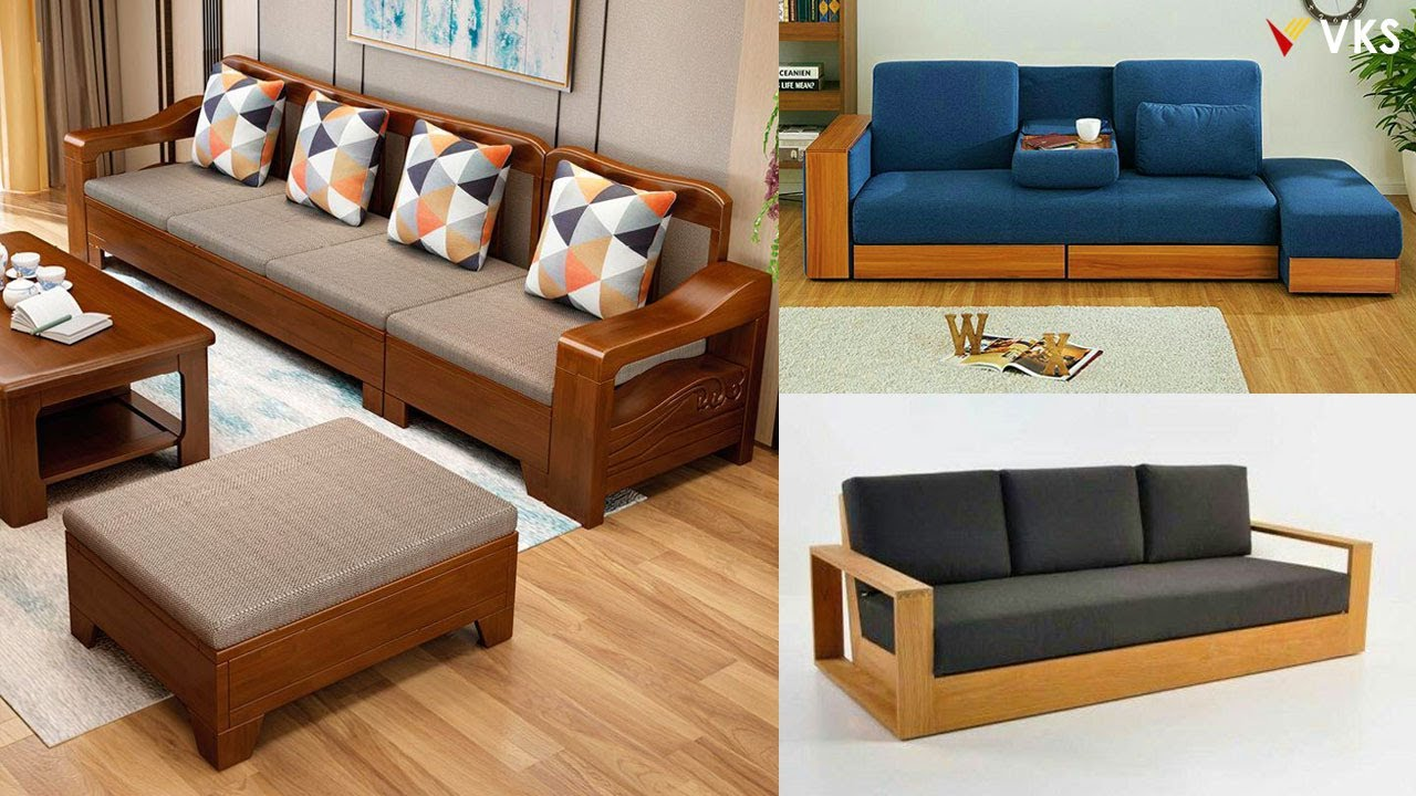 Modern Wooden Sofa Set Design Ideas | Living Room Sofa Design | Wooden Furniture