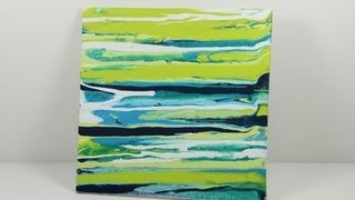 Make your own drip art canvases