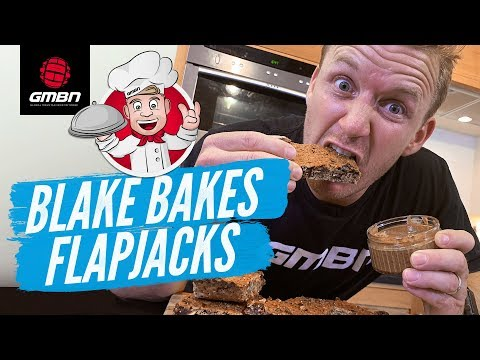 How To Make Homemade Flap Jacks For MTB Riding   Blake Bakes Trail Snacks