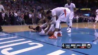 adams tip in and westbrook rebound in final seconds
