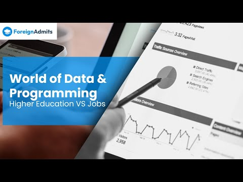 World of data and Programming - Higher Education vs Jobs