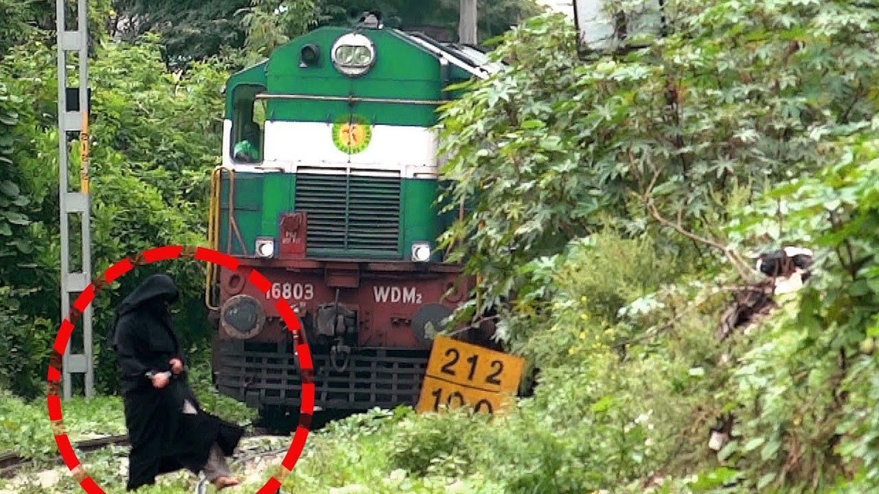 DEAF WOMAN ESCAPES DEATH : INDIAN RAILWAYS TRAIN