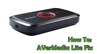 How To: AVerMedia LGP Lite Fix
