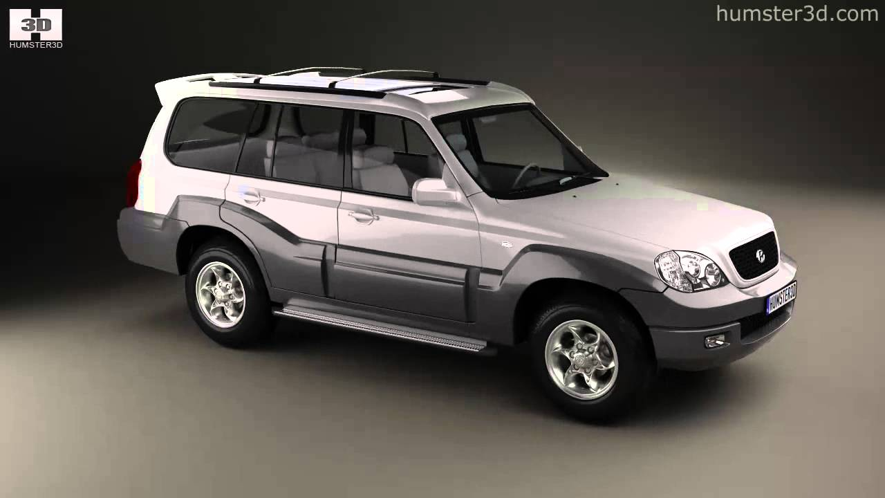hyundai terracan 2004 by 3d model store youtube. Black Bedroom Furniture Sets. Home Design Ideas
