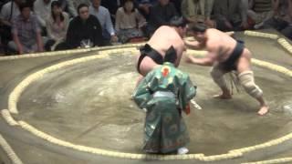 20150511 大相撲夏場所2日目 豪栄道 vs 安美錦.