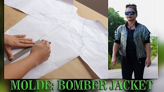 DIY: COMO FAZER MOLDE DE UMA BOMBER JACKET COM MANGA