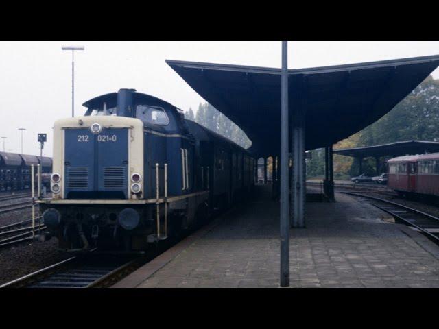 Bundesbahn-Baureihe V100 auf der Eifelquerbahn   1988