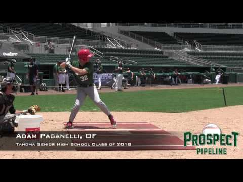 Adam Paganelli prospect video, OF, Tahoma Senior High School Class of 2018