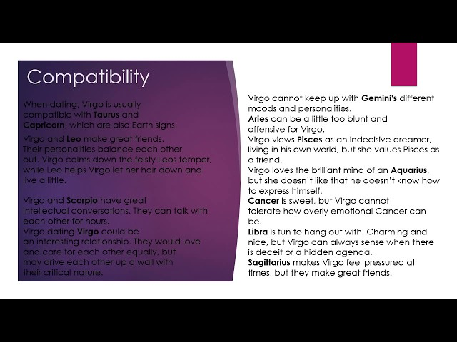 Virgo woman (Traits, personality, compatibility) - YouTube
