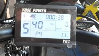 E-bike KT-LCD3 DISPLAY gasgriff FREISCHALTEN