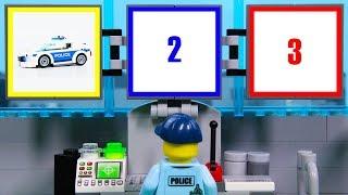 LEGO Police Experimental Car, Construction Steamroller STOP MOTION LEGO Cars & Trucks | Billy Bricks