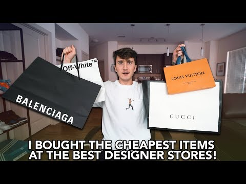 """I Bought The CHEAPEST Items From Gucci, """"OFF-WHITE"""", Louis Vuitton & Balenciaga!"""