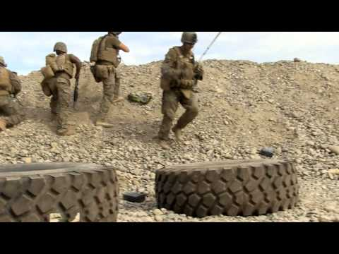 Graphic HD Video: Marines in combat firefight against enemy