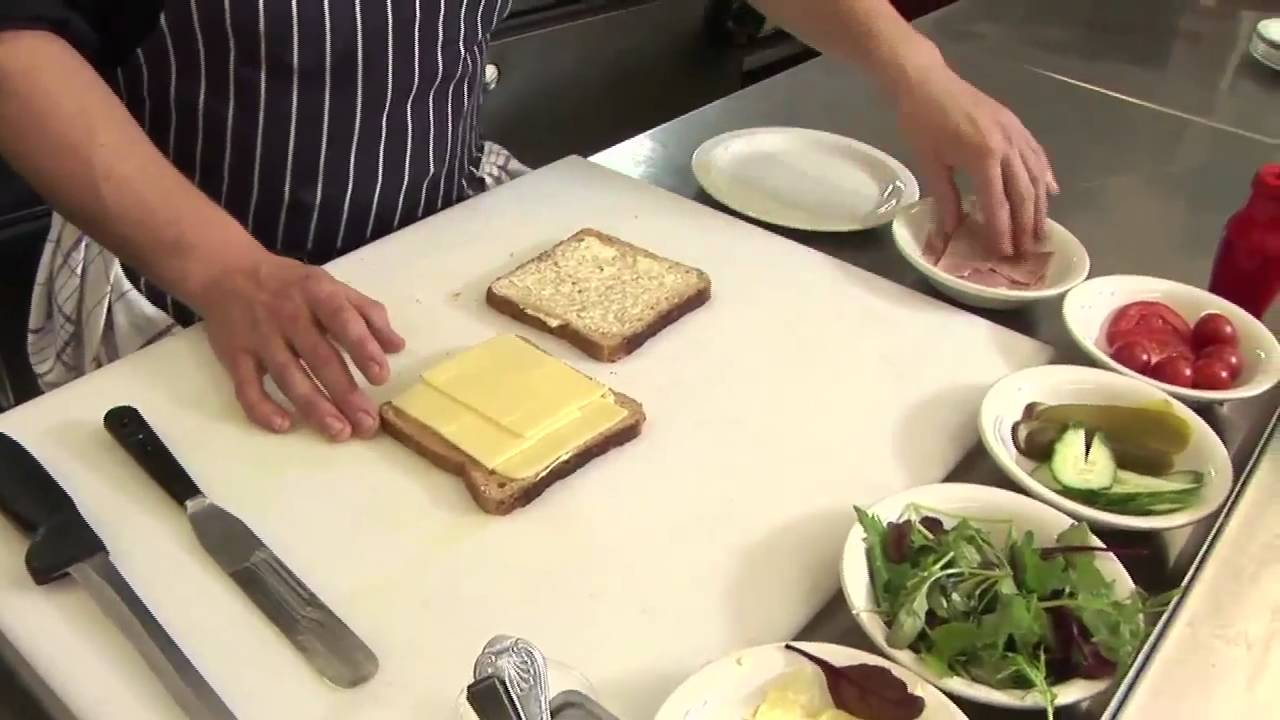 How To Make A Ham And Cheese Sandwich - YouTube