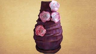 Ваза своими руками из ветоши. Как сделать красивую вазу