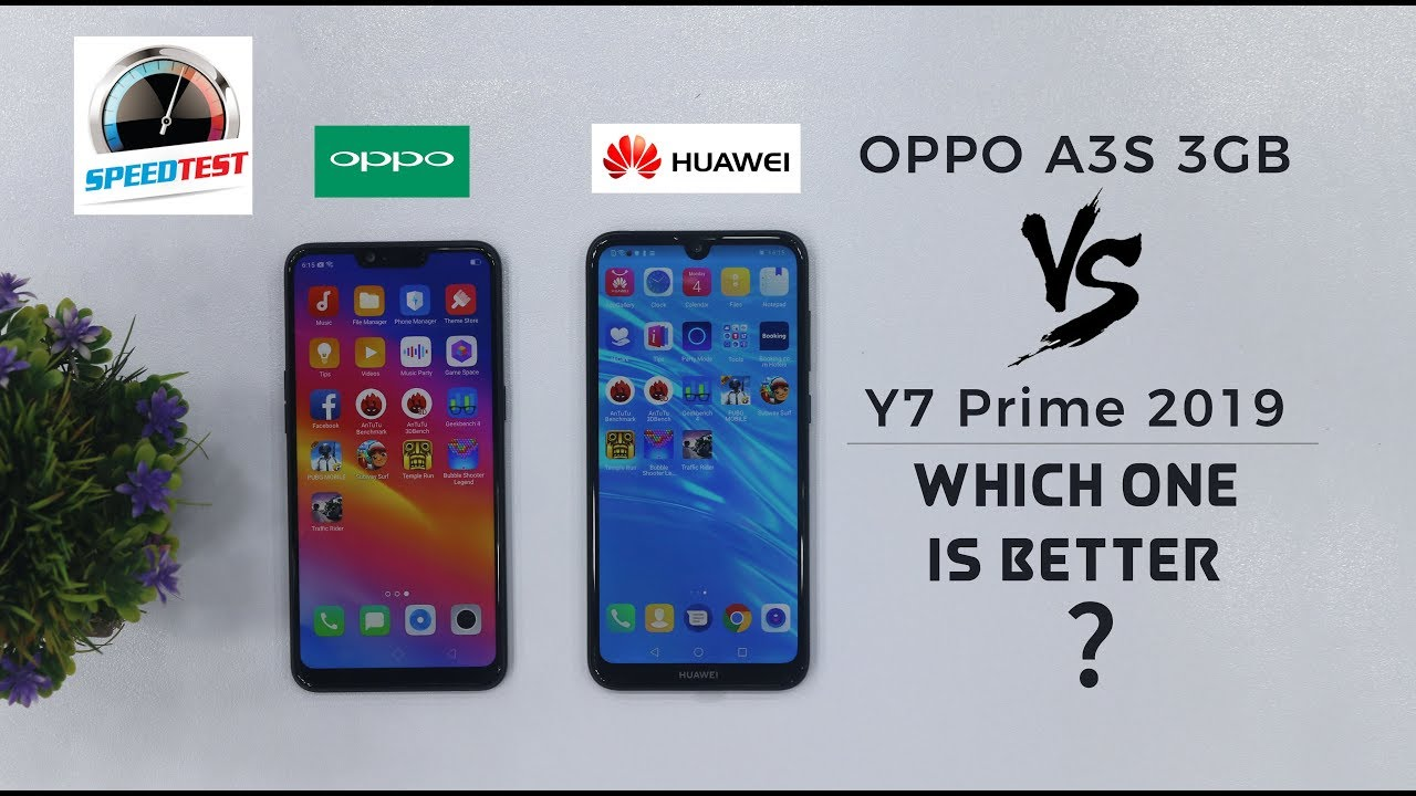 Huawei Y7 Prime 2019 vs Oppo A3s 3GB Comparison | Which one