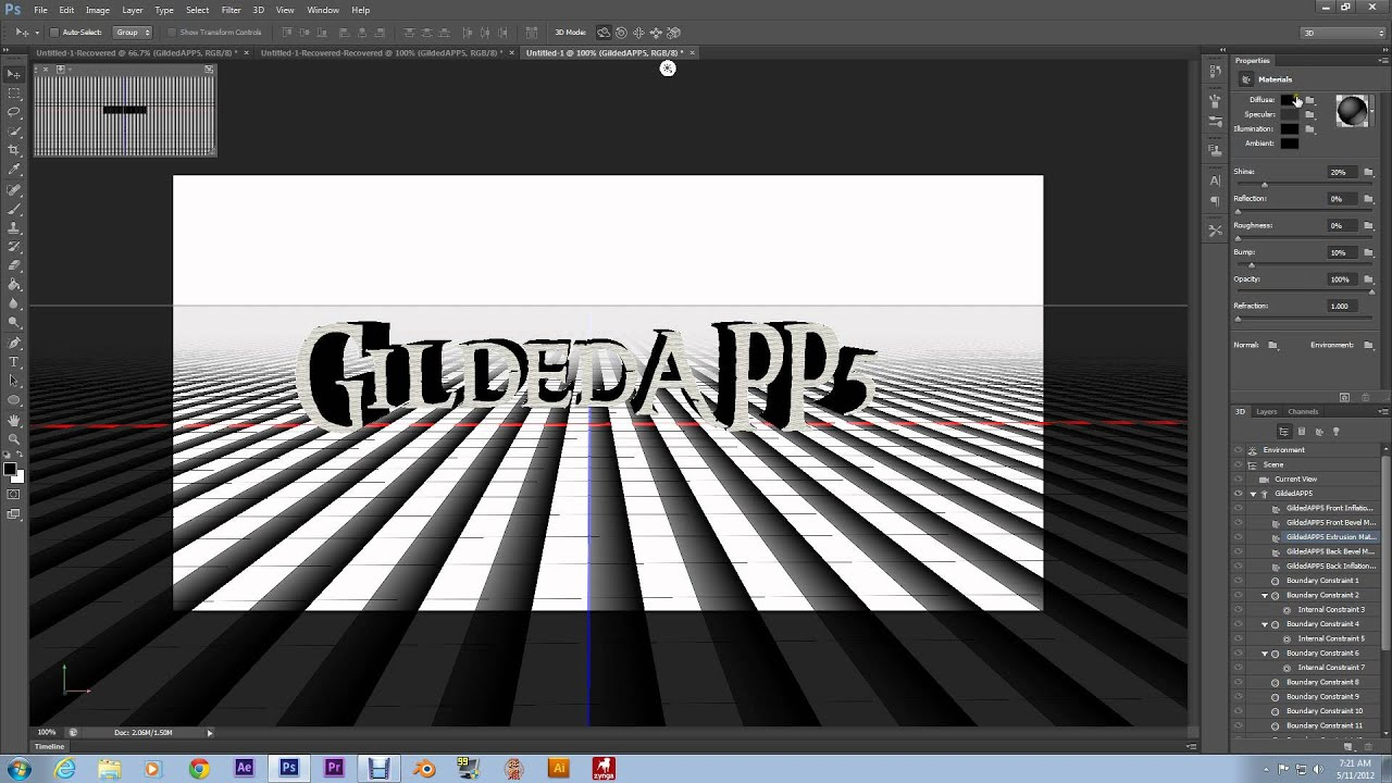 How to render 3d in photoshop cs6 tutorial youtube baditri Gallery