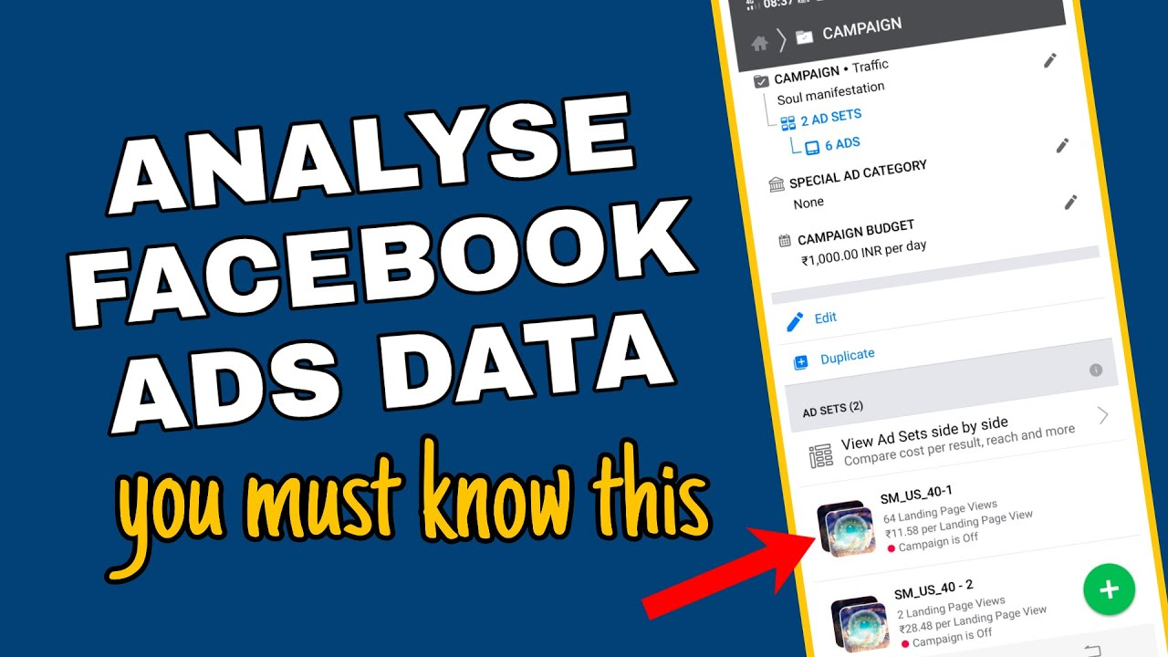 How to read facebook ads data [ for affiliate marketing beginners ]