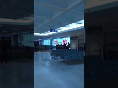 United Terminal B in San Juan SJU airport after Maria