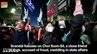 غرفة الأخبارسياسة  الآلاف يطالبون باستقالة رئيسة كوريا الجنوبية