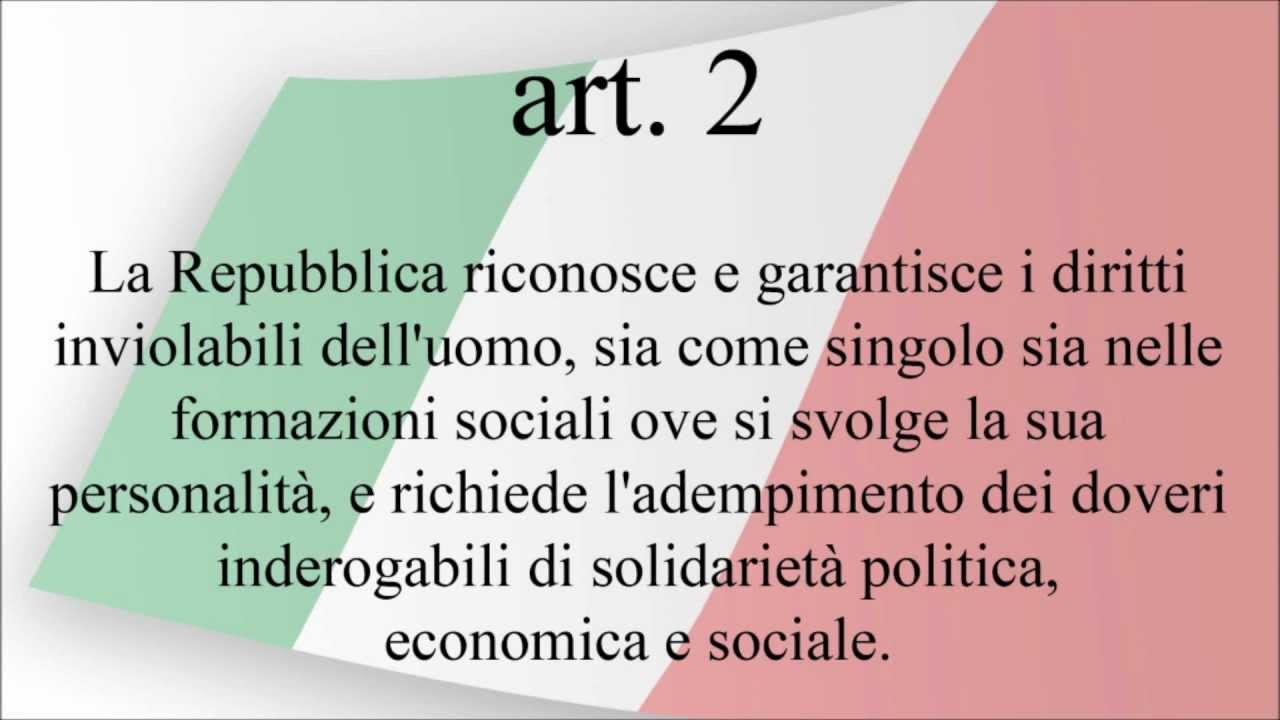 la costituzione italiana i principi fondamentali youtube On articoli della costituzione