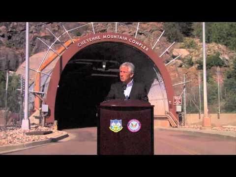 SECDEF visits Colorado Springs