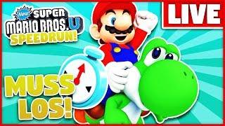Neuer Rekord - unter 1 Stunde! - New Super Mario Bros.U Speedrun