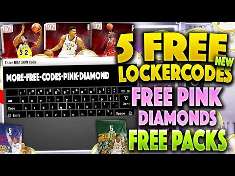 5 NEW FREE LOCKER CODES TO USE IN NBA 2K19 MYTEAM!! PINK DIAMONDS AND TONS OF MT! NBA 2K19