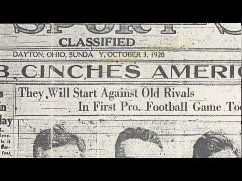 Two minutes of pro football history: The NFL's first games