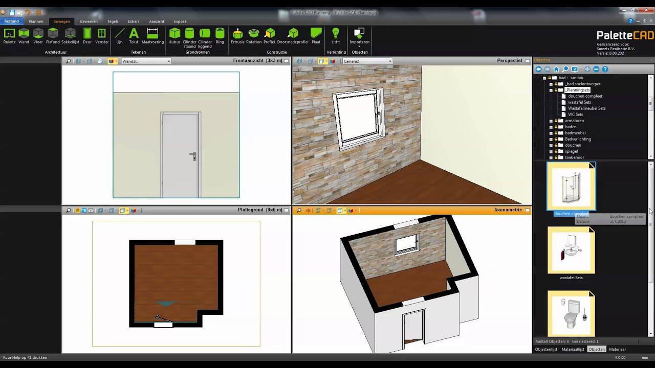palette cad 8 snel eenvoudig en een top presentatie youtube. Black Bedroom Furniture Sets. Home Design Ideas