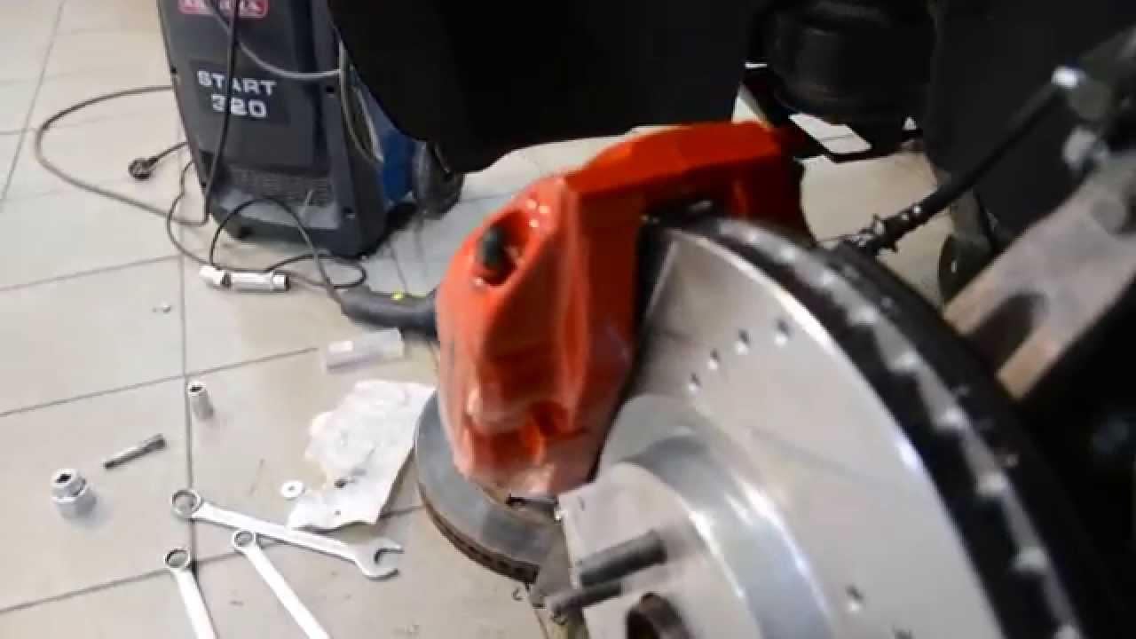Ford Explorer 5 Limited  замена тормозной системы