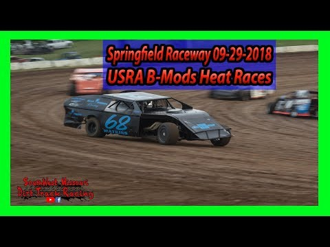 USRA B Mods Heat Races Springfield Raceway 9-29-2018 Under The Lights 100