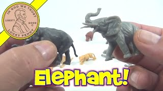 Plastic Toy Animals Collection - Vintage Zoo Animals - Elephant, Lion, Tiger, Hippo, Camel