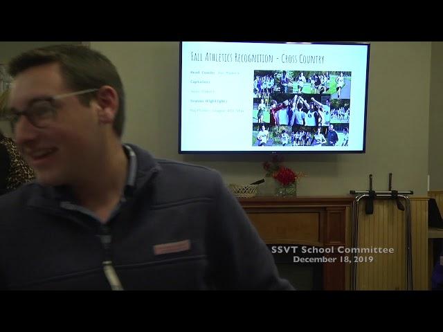 SSVT School Committee; December 18, 2019