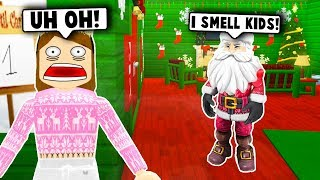 I SPENT 24 HOURS IN SANTA'S HOUSE! (Roblox Bloxburg) Roblox Roleplay