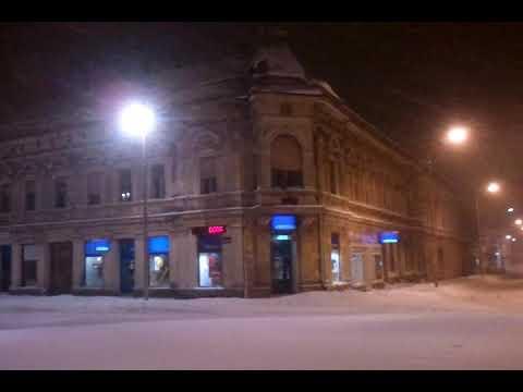 Bjelovar Trg Stjepana Radica Kruzni Tok Snijeg Youtube