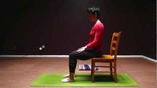 Chair yoga sequence for balancing the pelvis and spine
