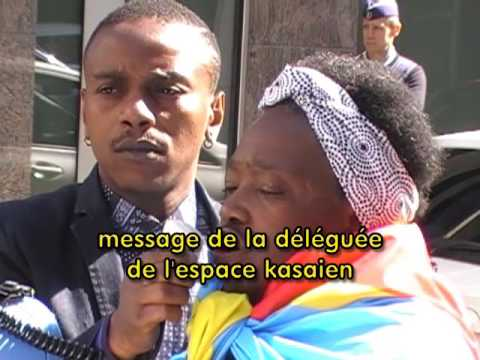 tueries de kananga, sit in devant ambassade rdc bxl