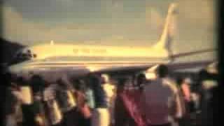 Douglas DC8 | Air New Zealand NZ-NZF Arriving Rarotonga Airport 1974 NZ-NZF