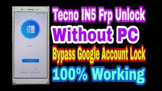 Tecno i5 pro google lock reset frp gmail bypass new 2019