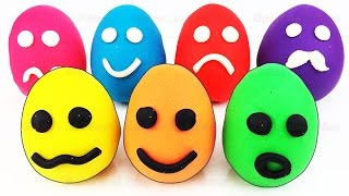 Play Doh Smiley Face Surprise Eggs Paw Patrol Disney Frozen Learn Colors Popsicle Ice Cream Fruits