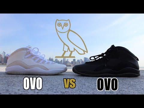 DRAKE VS DRAKE!!! Nike Air Jordan 10 Retro OVO Black & White